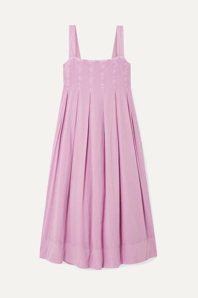 7472e255ed HATCH | The Alice pleated shirred cotton-voile midi dress | NET-A-PORTER.COM