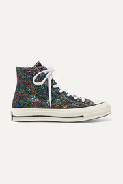 Converse + JW Anderson All Star 70 glittered canvas high-top sneakers