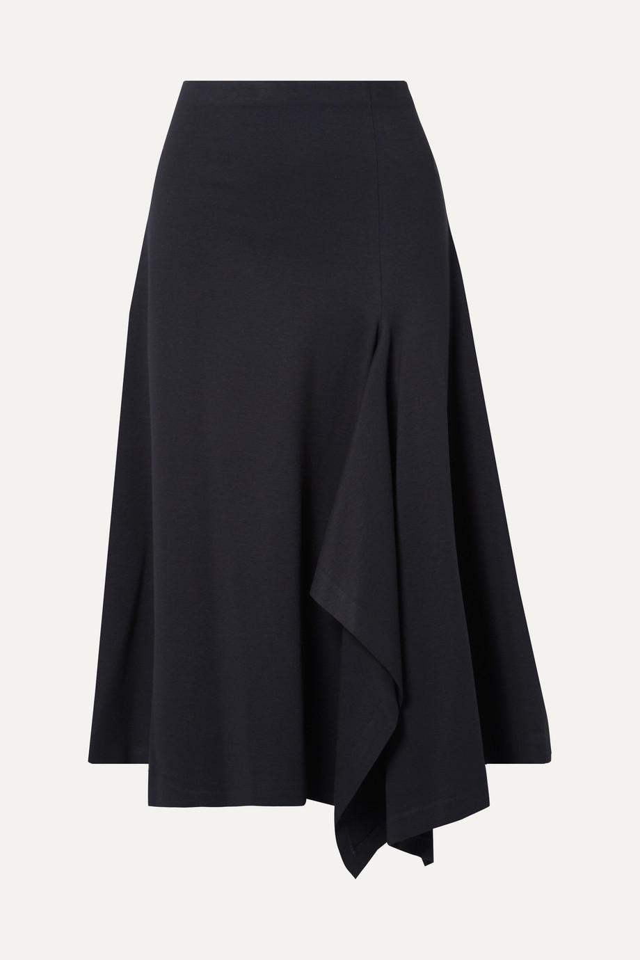 Rosetta Getty Draped stretch-jersey midi skirt