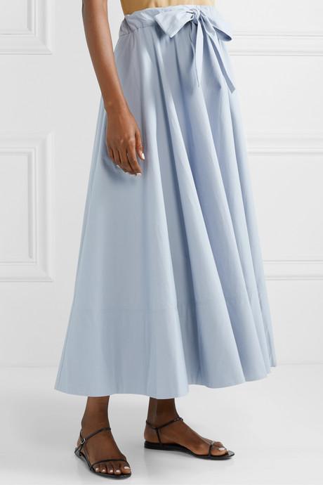 Cotton-poplin maxi skirt