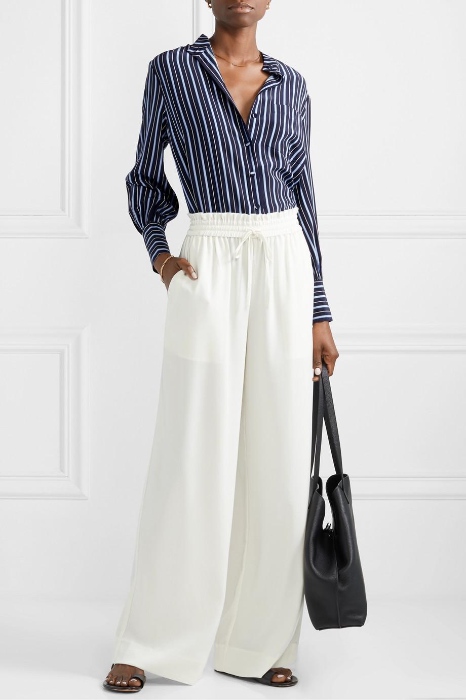 Co Striped silk-crepe shirt