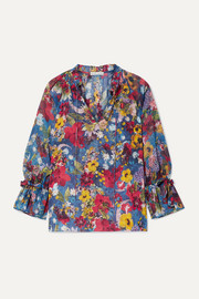 Alice + Olivia Julius floral-print chiffon blouse