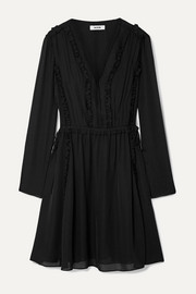 Jason Wu Ruffled silk-georgette mini dress