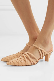 Liora leather mules