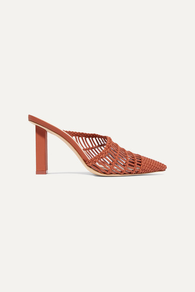 Raya Woven Leather Mules by Cult Gaia