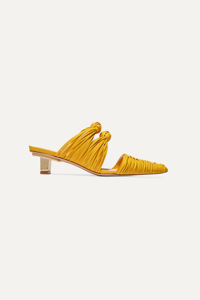 Paige Knotted Leather Mules by Cult Gaia