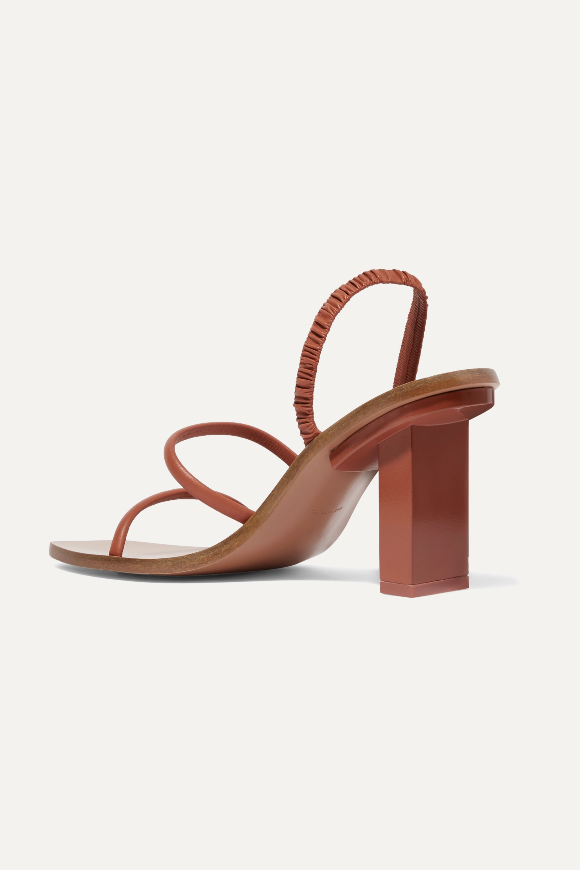 Cult Gaia Kaia ruched leather sandals