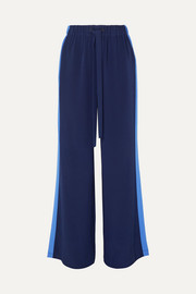 Diane von Furstenberg Ellington striped silk-crepe wide-leg pants