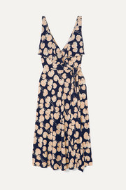 Diane von Furstenberg Naya ruffled printed silk-jersey wrap dress