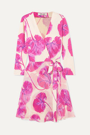 Diane von Furstenberg Irina printed silk-jersey wrap mini dress