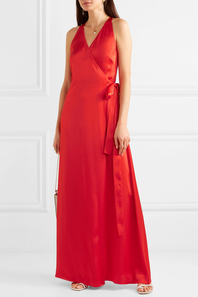Diane Von Furstenberg Dress Satin wrap gown
