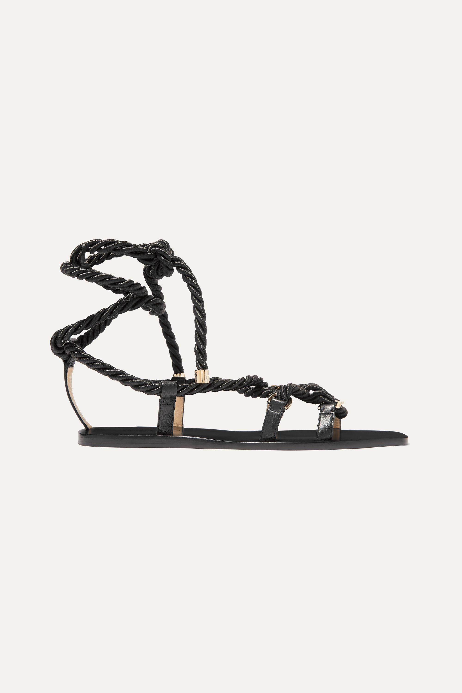 Jimmy Choo Aziza leather flat sandals