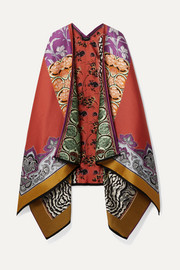 Etro Patchwork wool-blend jacquard wrap