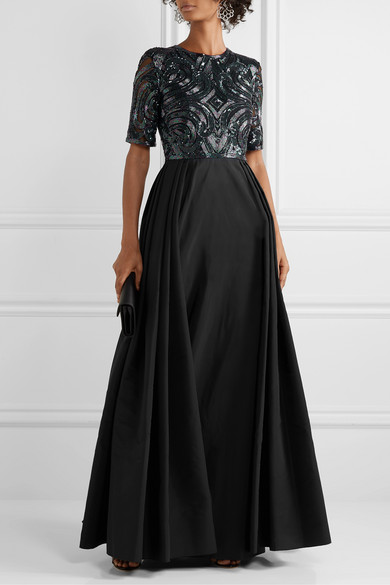 Embellished Silk Tulle And Taffeta Gown by Naeem Khan