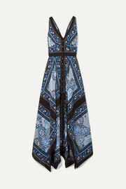 Altuzarra Duel printed silk crepe de chine maxi dress