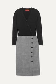Altuzarra Stamford wool and Prince of Wales checked wool-blend dress