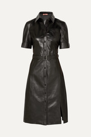 Altuzarra Kieran belted leather dress