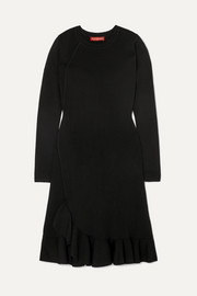 Altuzarra Mikey asymmetric ruffled stretch-knit mini dress