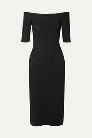 Altuzarra Stansfield off-the-shoulder pointelle-knit dress