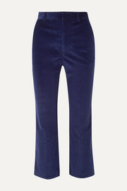 Altuzarra Adler cropped cotton-blend corduroy straight-leg pants