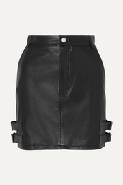 Altuzarra Lawrence buckled leather mini skirt
