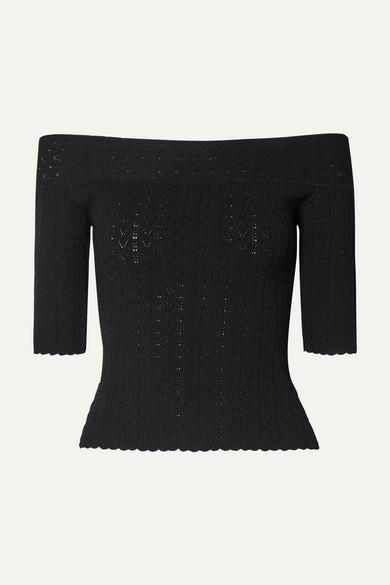 Altuzarra Knits Barnehurst off-the-shoulder pointelle-knit top