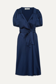 Diane von Furstenberg Valentina satin wrap dress