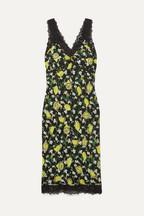 67ea76bf4a3 Diane von Furstenberg Issey lace-trimmed printed silk crepe de chine midi  dress