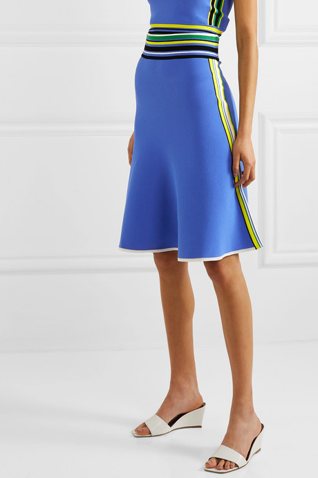 Roseha striped stretch-jersey skirt