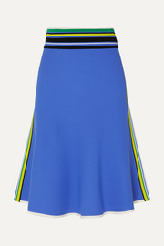 Diane von Furstenberg Roseha striped stretch-jersey skirt