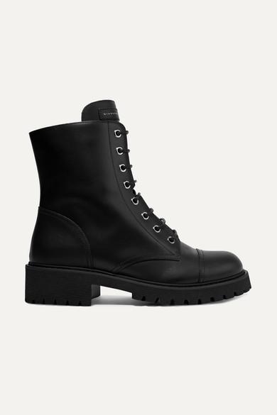 GIUSEPPE ZANOTTI | Giuseppe Zanotti - Chris Leather Ankle Boots - Black | Goxip