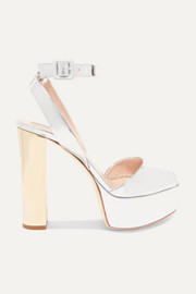 Betty mirrored-leather platform sandals