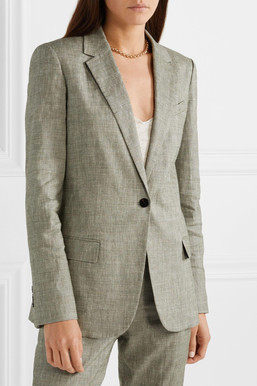 Theory Organic linen-blend blazer