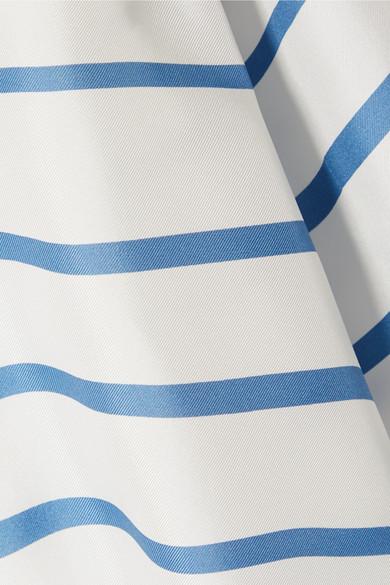 striped-silk-satin-twill-midi-dress by theory