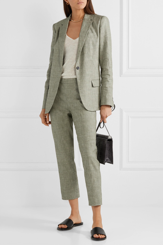 Theory Organic linen-blend straight-leg pants