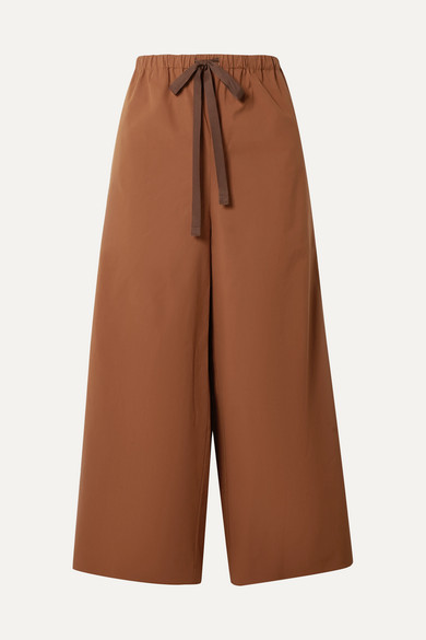 cropped-stretch-cotton-poplin-wide-leg-pants by theory