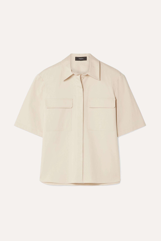 Theory Stretch-cotton poplin shirt