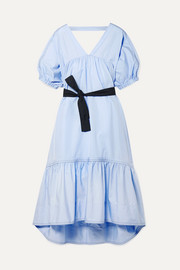 3.1 Phillip Lim Open-back belted cotton-poplin midi dress
