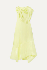 3.1 Phillip Lim Asymmetric twist-front satin dress
