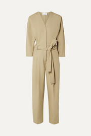 3.1 Phillip Lim Belted cotton-blend poplin jumpsuit