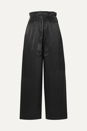 3.1 Phillip Lim Belted cropped satin wide-leg pants