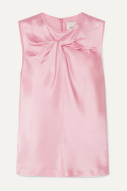 3.1 Phillip Lim Twist-front satin top