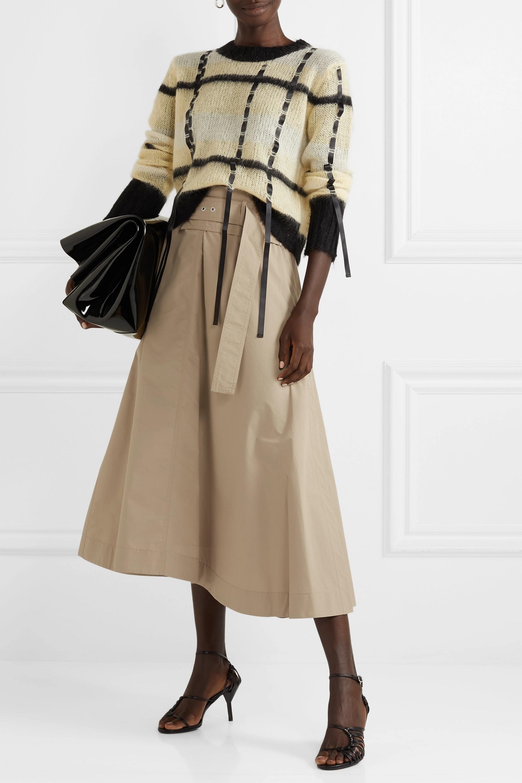 3.1 Phillip Lim Belted cotton-blend poplin midi skirt