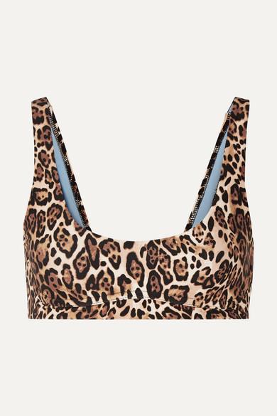 SKIN | Skin - The Jordan Leopard-Print Bikini Top - Leopard Print | Goxip