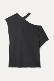 RtA Axel oversized off-the-shoulder stretch-cotton jersey top