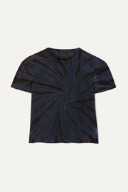 RtA Rain cropped tie-dyed cotton and cashmere-blend jersey T-shirt