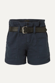 Saint belted cotton shorts