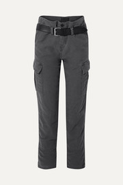 RtA Sallinger belted cotton-twill cargo pants