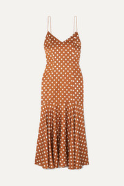 Kai polka-dot silk-satin dress