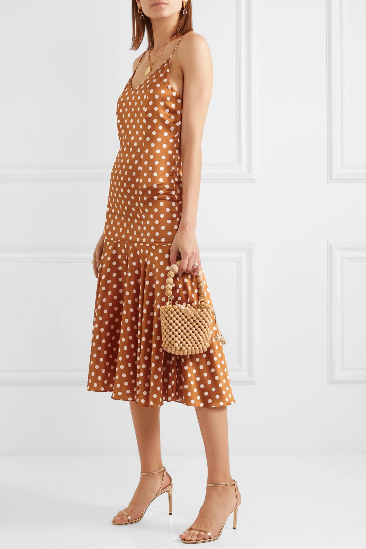 Caroline Constas Kai polka-dot silk-satin dress